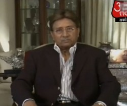 Musharraf giving courageous response to India on Aaj Tak TV