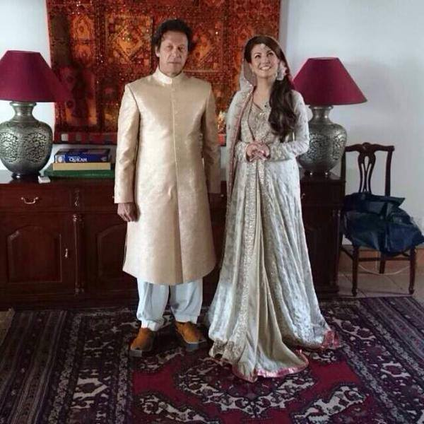 Pitcure of Imran Khan And Reham Khan' Nikah