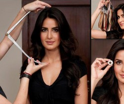 What was Katrina Kaif's first reaction after seeing her wax statue