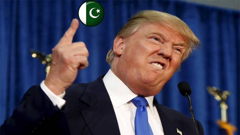 donald trump with pakistani flag