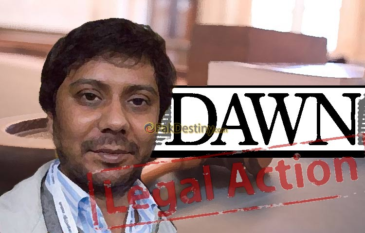 cyril almeida,dawn news paper,legal action