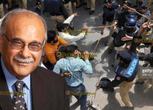 najam sethi,baton charge,police,journalists,pakistan