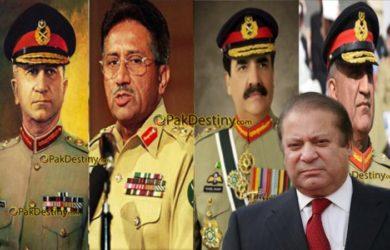 pervez musharraf,asif nawaz janjua,gen qamar bajwa,gen raheel shareef,nawaz sharif,Nawaz Sharif learnt nothing