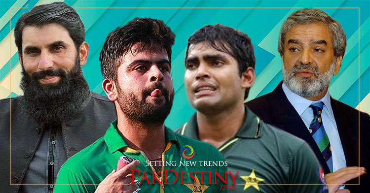 """Selected"" Misbahul Haq's punters - Umer Akmal and Ahmed Shahzad - bring humiliation for the team and country"
