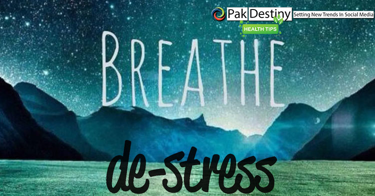 When stressed, hold your breath as, it will help negate the effects of nervousness.