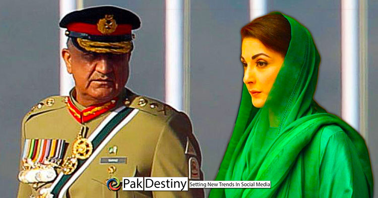 maryam nawaz propaganda against pakistan army and qama bajwa